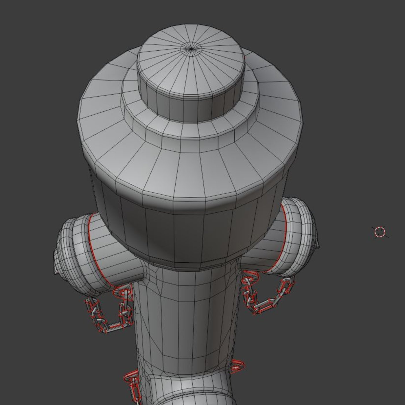 Fire Hydrant VAG Version 2 (Low-Poly) Red and Rusty (1)
