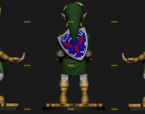 3D printable model Link Zelda cellphone and joystick