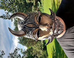 3D print model Female oni mask