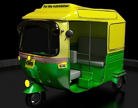 3D print model CNG Auto Rickshaw High Poly Delhi