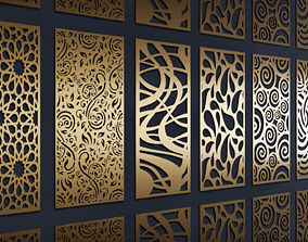Abstractions pattern pack - 7 patterns 3D model fence