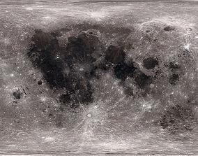 92k Moon Color Map 3D