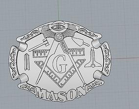 3D printable model mason pendant