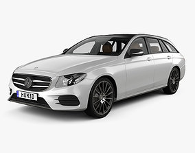 3D model Mercedes-Benz E-class AMG-Line estate with HQ 1