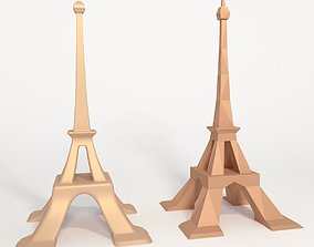 Eiffel Tower low poly 3D asset