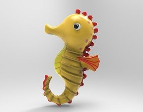Seahorse 3D printable model