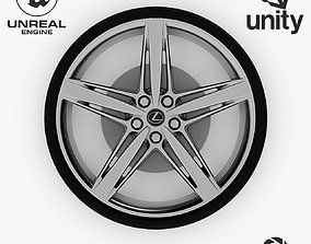 3D asset Wheel Steel-Chrome Alloy Rim Lexus 4