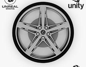 3D asset Wheel Steel-Chrome Alloy Rim Lexus 4