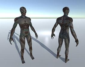 3D model Alien Cyborg Ninja Character