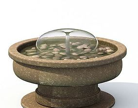 Brown Fountain With Rocks 3D model