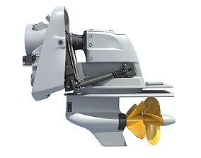3D model Boat Engine