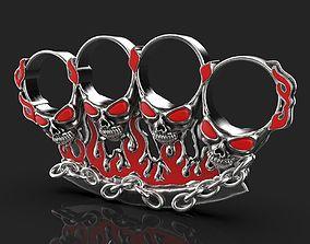 3D print model badass gothic skull ring