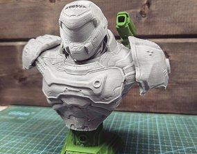 sculptures 3D printable model Doom Slayer Bust
