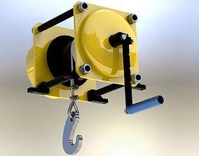 3D model winch capacity 500 kg