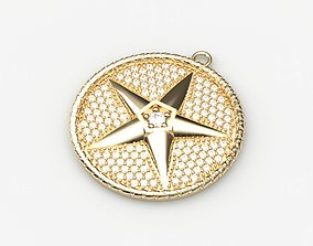 Model 79 Star Embossed Necklace Texture