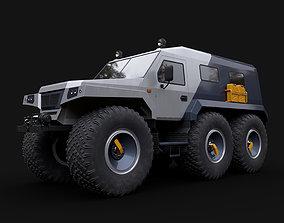3D model all-terrain vehicle Trekol Huskey truck