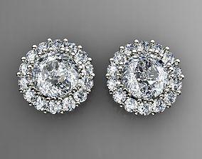 Diamond Earrings Puset 3D print model wedding