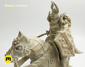Warrior on horse - kit for 3D printing