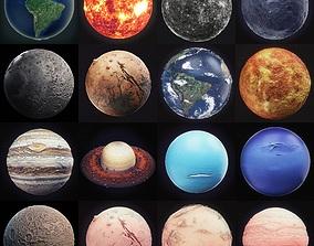 Solar System High Poly 3D model astronomy