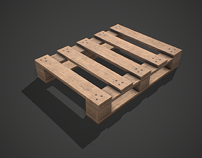 3D asset Low poly European Wood pallet 06 PBR Game