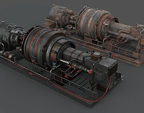 Machinery device 3D model PBR