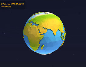 Low Poly Earth 3D model realtime poly