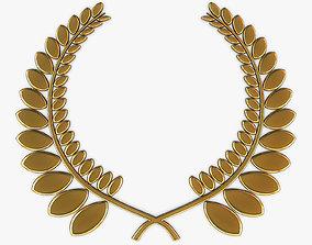3D Wreath Emblem Gold v 1