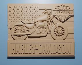 Harley Davidson Motorbike STL 3D Model cnc Router