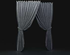 3D model Curtain Grey-21