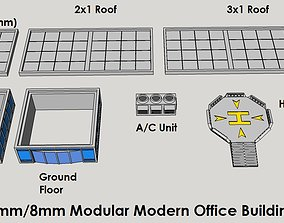 3D printable model 6mm or 8mm Modular Modern Office