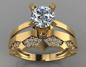 3D print model GC GOLD TW0156- Diamond ring