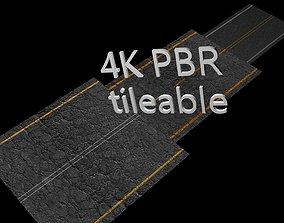 3D asset 8 x Different High Quality Seamless PBR Asphalt