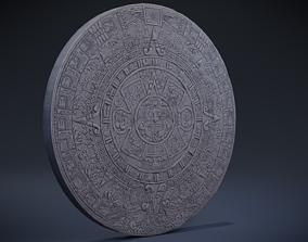 3D asset Aztec Calendar