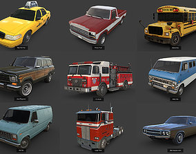 3D model Background Vehicles Pack