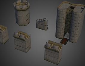 3D model Modular Castle Set