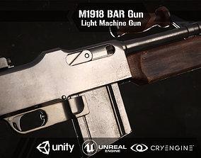 M1918 BAR gun 3D asset