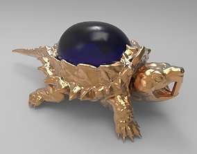 3D printable model Jewelry pendant turtle with stone