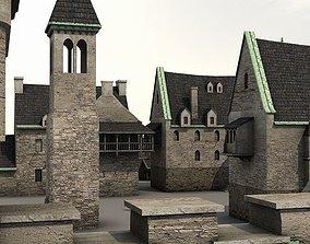 3D model Medieval Castle Village