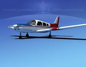 Piper Warrior II 3D model rigged