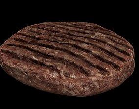 3D asset Raw Hamburger