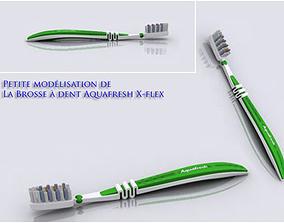 dentist Aquafresh Toothbrush 3D model