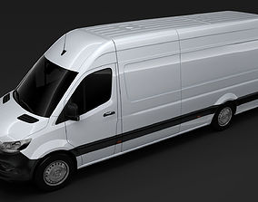 3D model Mercedes Benz Sprinter Panel Van L4H2 RWD 2019