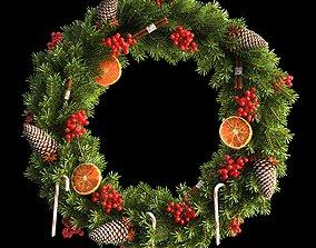 3D Christmas wreath 66cm cedar