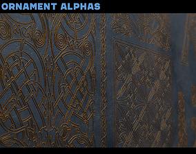 3D 156 Celtic Ornament Alphas