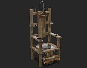 Electric Chair 3D asset game-ready