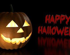 horror 3D model Halloween Pumpkin