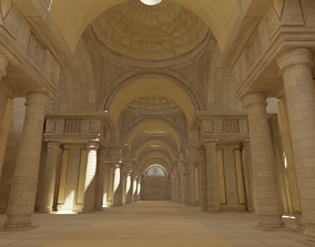 medieval palace 3D asset