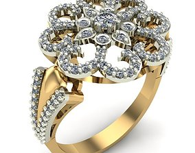 3D print model WOMAN RING gold