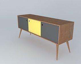 Sideboard Retro Design 3D model