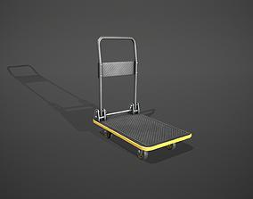 Folding Platform Truck - Trolley - Yellow Accents 3D asset
